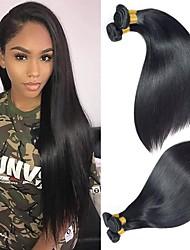 olcso -4 csomópont Brazil haj Egyenes Remy haj Az emberi haj sző Bundle Hair Egy Pack Solution 8-28 hüvelyk Természetes szín Emberi haj sző Vízesés Sima Hot eladó Human Hair Extensions Női