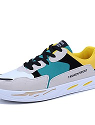 cheap -Men's Light Soles Suede Spring & Summer Sporty / Casual Sneakers Breathable Black / Beige / Gray