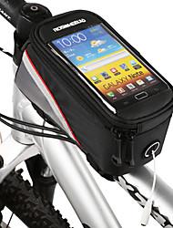 Недорогие -ROSWHEEL Сотовый телефон сумка / Бардачок на раму 4.2 дюймовый Сенсорный экран Велоспорт для Samsung Galaxy S6 / LG G3 / Samsung Galaxy S4 Черный / iPhone 8/7/6S/6 / Водонепроницаемая застежка-молния
