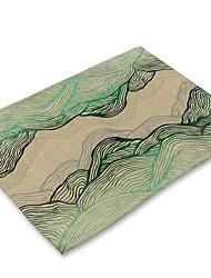 preiswerte -Moderne Nicht gewebt Quadratisch Platztdeckchen Geometrisch Umweltfreundlich Tischdekorationen 1 pcs