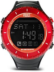 Недорогие -Жен. Спортивные часы На открытом воздухе Мода Черный Pезина Японский Цифровой Красный Защита от влаги Smart Bluetooth 100 m 1 комплект Цифровой Один год Срок службы батареи / ЖК экран