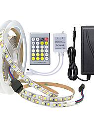 Недорогие -ZDM® 5 метров Гибкие светодиодные ленты / Наборы ламп 600 светодиоды 2835 SMD 1 пульт дистанционного управления 24Keys / 1 кабель переменного тока / 1 адаптер x 12V 3A Двойной цвет источника света