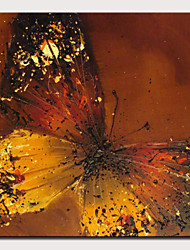 abordables -Peinture à l'huile Hang-peint Peint à la main - Abstrait Pop Art Moderne Inclure cadre intérieur