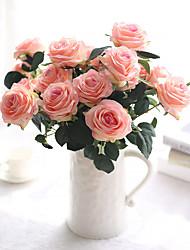 זול -פרחים מלאכותיים 1 ענף יחיד מודרני עכשווי פסטורלי סגנון ורדים פרחים לשולחן