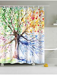 זול -וילונות מקלחת יום יומי / מודרני פּוֹלִיאֶסטֶר חמוד