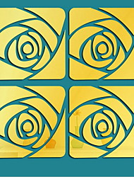 Недорогие -Декоративные наклейки на стены - Зеркальные стикеры Геометрия В помещении