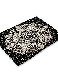 お買い得  -コンテンポラリー 不織の 方形 プレイスマット 幾何学模様 エコ テーブルデコレーション 1 pcs