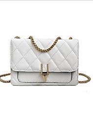 preiswerte -Damen Taschen PU Umhängetasche Reißverschluss Weiß / Schwarz / Rosa