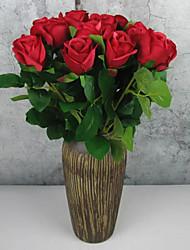 Недорогие -Искусственные Цветы 12 Филиал Классический Современный современный европейский Розы Букеты на стол