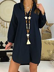 billige -kvinners t-skjorte - solid farget v-hals