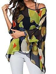 hesapli -Kadın tişörtü - düz renkli bir omuz