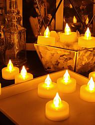 رخيصةأون -18PCS الصمام ليلة الخفيفة / ضوء الشمعة أصفر زر البطارية بالطاقة سهل الحمل / الأمان / مصباح الجو