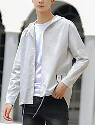 cheap -men's shirt - check hooded