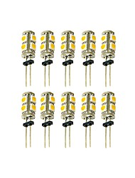 abordables -10pcs 2 W 100 lm G4 LED à Double Broches T 9 Perles LED SMD 5050 Adorable Blanc Chaud / Blanc Froid 12 V