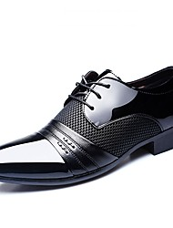 cheap -Men's Formal Shoes PU(Polyurethane) Spring & Summer Business / Classic Oxfords Breathable Black / Brown / Burgundy