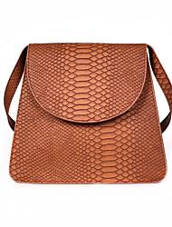 رخيصةأون -نسائي أكياس PU حقيبة الكتف لون الصلبة أزرق / أسود / بني
