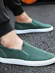 Недорогие -Муж. Комфортная обувь Полотно Весна лето Мокасины и Свитер Черный / Оранжевый / Зеленый