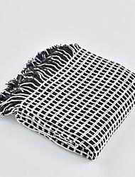 levne -Multifunkční deky, Jednoduchý / Klasický / černá - bílá Akrylová vlákna Ohřívač Třásně Měkký povrch přikrývky