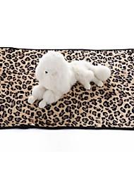 Недорогие -Собаки Коты Матрас Кровати Полотенца Одеяла Одеяла Терилен Сохраняет тепло Складной Мягкий Леопард Персонажи Зебра Белый Черный Цвет-леопард