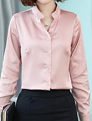halpa -naisten ohut pusero - vankka värillinen v kaula