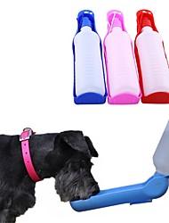 Недорогие -Собаки Животные Миски и бутылки с водой / Кормушки 0.5 L пластик Компактность На открытом воздухе Путешествия Контрастных цветов Лолита Цвет отправляется в случайном порядке Чаши и откорма