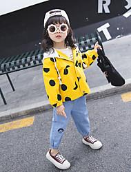 رخيصةأون -معطف المطر لون سادة / منقط للفتيات طفل صغير