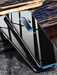 billiga -fodral Till Samsung Galaxy Galaxy J6(2018) / J8 Plätering / Ultratunt / Genomskinlig Skal Enfärgad Mjukt TPU för J8 (2018) / J6 (2018) / J6 Plus