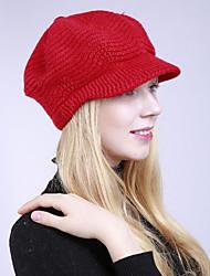 Недорогие -Жен. Классический Симпатичные Стиль Широкополая шляпа Акрил Шерсть,Однотонный Осень Зима Хаки Светло-серый Светло-голубой