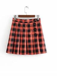 cheap -women's mini a line skirts - color block