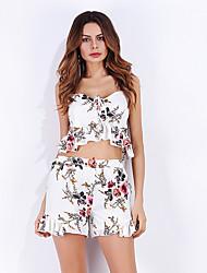 abordables -Mujer Básico Conjunto - Floral Pantalón
