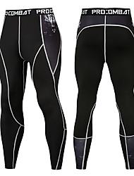 Недорогие -Нижняя часть Сжимающие штаны Муж. На открытом воздухе Велосипедный спорт / Велоспорт Катание вне трассы Велоспорт Дышащий Велоспорт Быстровысыхающий Черный / желтый Черный / оранжевый Грубый черный