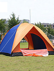 Недорогие -4 человека Семейный кемпинг-палатка На открытом воздухе Воздухопроницаемость Пригодно для носки Двухслойные зонты Автоматический Палатка 2000-3000 mm для Пикник Стекловолокно 200*200*135 cm