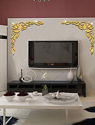 abordables -Autocollants muraux décoratifs - Autocollants muraux 3D / Miroirs Muraux Autocollants A fleurs / Botanique Salle de séjour / Chambre à coucher / Cuisine