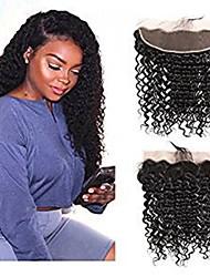 tanie -1 Pakiet Włosy brazylijskie Deep Curly Włosy virgin Akcesoria do peruk Taśma włosów z zamknięciem 8-20 in Kolor naturalny Ludzkie włosy wyplata Kreatywne Przeciwe stresowi i niepokojom Nowości