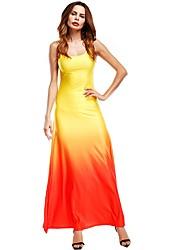 Недорогие -Жен. Большие размеры Оболочка Платье Макси
