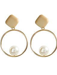 olcso -Női Beszúrós fülbevalók Francia kapcsos fülbevalók Fülbevaló Ázsiai Geometrijski oblici Ékszerek Arany Kompatibilitás Napi Előírásos 1 pár