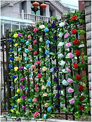 halpa -Keinotekoinen Flowers 1 haara Klassinen Häät Ruusut Pöytäkukka