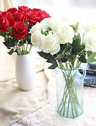 abordables -Fleurs artificielles 5 Une succursale Classique Traditionnel / Classique Européen Roses Fleurs éternelles Fleur de Table