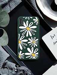 baratos -Capinha Para Apple iPhone XR / iPhone XS Max Estampada Capa traseira Plantas / Flor Macia TPU para iPhone XS / iPhone XR / iPhone XS Max