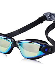 Недорогие -плавательные очки Водонепроницаемость Противо-туманное покрытие Смола силиконовый Поликарбонат черный синий Светло-розовый Светло-серый