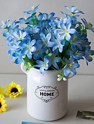 abordables -Fleurs artificielles 5 Une succursale Classique Accessoires de Scène style pastoral Lis Fleurs éternelles Fleur de Table