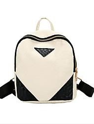 رخيصةأون -نسائي أكياس PU حقيبة ظهر سحاب ألوان متناوبة أسود / وردي بلاشيهغ / رمادي