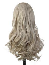 Χαμηλού Κόστους -Συνθετικές Περούκες Σγουρά / Bouncy Curl Στυλ Με αφέλειες Χωρίς κάλυμμα Περούκα Μωβ Ανοικτό Χρυσαφί Μπλε Απαλό Ροζ / Μωβ Συνθετικά μαλλιά 22 inch Γυναικεία Απλός / συνθετικός / Η καλύτερη ποιότητα Μωβ