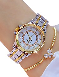 Недорогие -Жен. Кварцевые золотые часы Классика Кольцеобразный Золотистый сплав Swiss Кварцевый Золотой Секундомер 30 m 2шт Аналоговый Два года Срок службы батареи