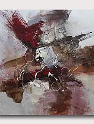 billige -Hang-Painted Oliemaleri Hånd malede - Abstrakt Moderne Omfatter indre ramme