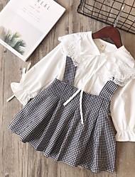 tanie -Dzieci Dla dziewczynek Podstawowy Solidne kolory Długi rękaw Regularny Regularny Bawełna Komplet odzieży Biały
