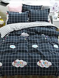 levne -Povlečení Stripes / Vlnky / Současné Polyester Reaktivní barviva 4 kusyBedding Sets