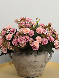 abordables -Fleurs artificielles 5 Une succursale Classique Traditionnel / Classique Européen Oeillets Fleurs éternelles Fleur de Table