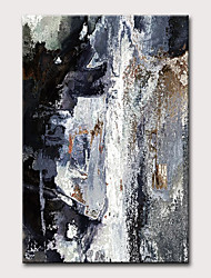 cheap -Oil Painting Hand Painted - Abstract Vintage Modern Rolled Canvas
