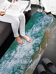 abordables -1pc Modern Esteras de Baño Coral Velve Creativo / Novedad 5mm Baño Antideslizante / Creativo / Espesamiento